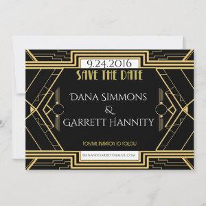 Gatsby Gold Wedding Suite Ceremony Party Save The Date starting at 2.57
