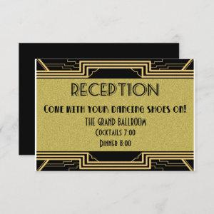 Gatsby Gold Wedding Suite Details Reception Party Invitation starting at 2.05