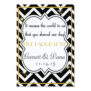Gatsby Gold Wedding Suite Thank You Party Table Invitation starting at 2.06