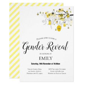 Gender Reveal Bee Baby Shower Invitation starting at 2.40