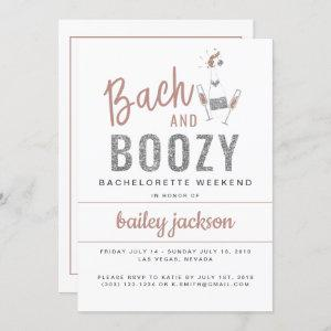 GENNA | Bach and Boozy Bachelorette Itinerary Invitation starting at 2.55