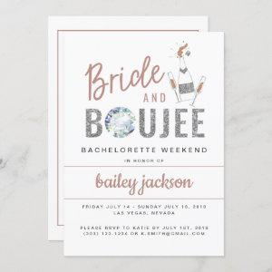 GENNA | Bride and Boujee Bachelorette Itinerary Invitation starting at 2.55