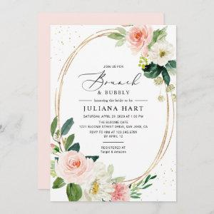 Geometric Blush Pink Floral Brunch & Bubbly Shower starting at 2.35