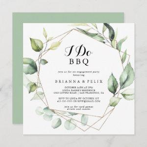 Geometric Elegant Gold I Do BBQ Engagement Party Invitation starting at 2.41