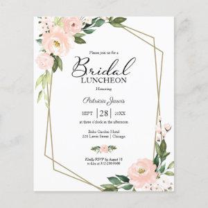 Geometric Floral Budget Bridal Luncheon starting at 0.55