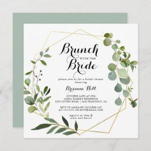 Geometric Gold Brunch with the Bride Shower Invitation starting at 2.41