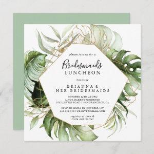 Geometric Gold Green Bridesmaids Luncheon Shower starting at 2.41