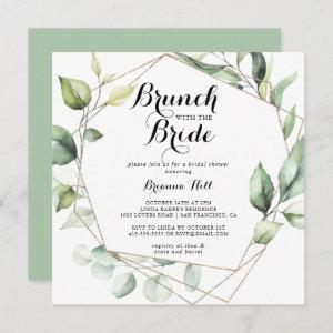 Geometric Gold Green Brunch with the Bride Shower starting at 2.41