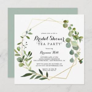 Geometric Gold Tropical Bridal Shower Tea Party Invitation starting at 2.41