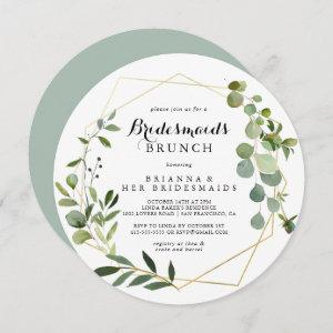 Geometric Gold Tropical Bridesmaids Brunch Shower Invitation starting at 2.66