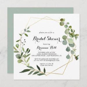 Geometric Gold Tropical Green Bridal Shower starting at 2.41