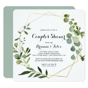 Geometric Gold Tropical Green Couples Shower Invitation starting at 2.61