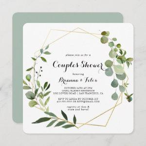 Geometric Gold Tropical Green Couples Shower starting at 2.61