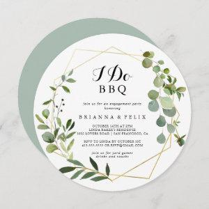 Geometric Gold Tropical I Do BBQ Engagement Party Invitation starting at 2.66