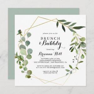 Geometric Tropical Brunch and Bubbly Bridal Shower Invitation starting at 2.41