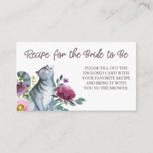 Getting Meowied Recipe Card for Bride to Be starting at 0.59