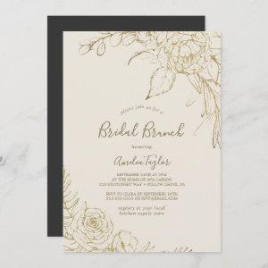 Gilded Floral | Cream and Gold Bridal Brunch starting at 2.51