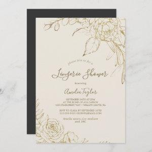 Gilded Floral | Cream and Gold Lingerie Shower starting at 2.51