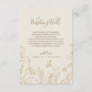 Gilded Floral   Cream Wedding Wishing Well Card starting at 1.91