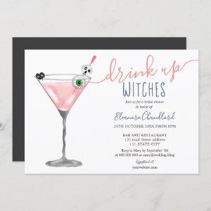 Girl pink cocktail witches Halloween bridal shower starting at 2.40