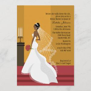 Glamorous Bride African-American Bridal Shower Inv Invitation starting at 2.56
