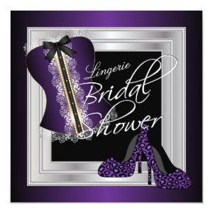 Glamorous Lingerie Bridal Shower | Purple Invitation starting at 2.46