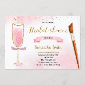 Glitter paint and sip shower invitation starting at 2.50