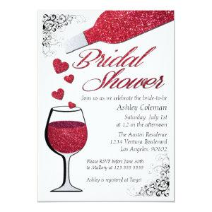 Glitter Wine Bridal Shower Invitation starting at 2.51