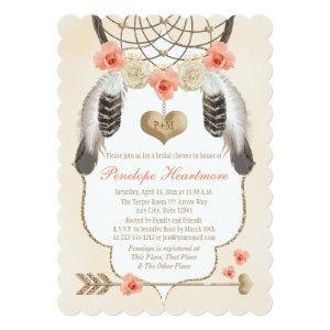 Gold and Blush Dreamcatcher Boho Bridal Shower Invitation starting at 2.91