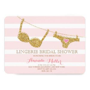 Gold and Pink Lingerie Bridal Shower Invitations starting at 2.65