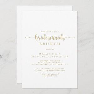 Gold Calligraphy Bridesmaids Brunch Shower starting at 2.51