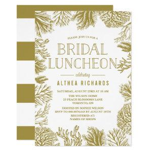 Gold Corals Frame Beach Bridal Luncheon Invitation starting at 2.40