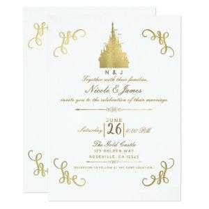 Gold Foil Princess Castle Storybook Wedding Invitation starting at 2.66
