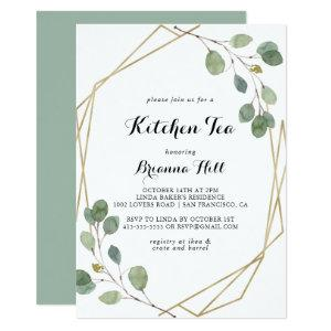 Gold Geometric Kitchen Tea Bridal Shower Invitation starting at 2.51