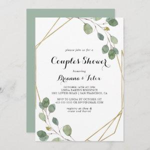 Gold Geometric Modern Calligraphy Couples Shower Invitation starting at 2.51