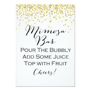 "Gold Mimosa Bar Sign 5x7"" Size Invitation starting at 2.51"