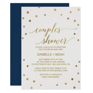 Gold Polka Dots Couples Shower Invitation starting at 2.51