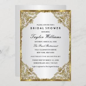 Gold Silver Pearl Vintage Glamour Bridal Shower starting at 2.55