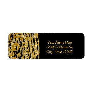 Golden Glam Cheetah Print Exotic Party  Label starting at 4.00