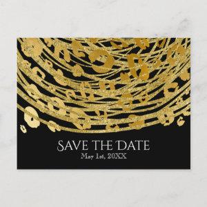 Golden Glam Cheetah Print Exotic Save the Date Announcement Postcard starting at 2.02