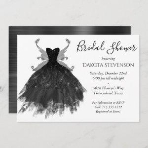 Goth Glamour Black Pixie Wing Gown | Bridal Shower Invitation starting at 2.51