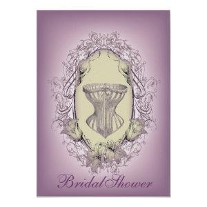 Gothic Lingerie party vintage corset bridal shower Invitation starting at 2.77