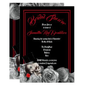 Gothic, rock or biker black and red bridal shower invitation starting at 2.66