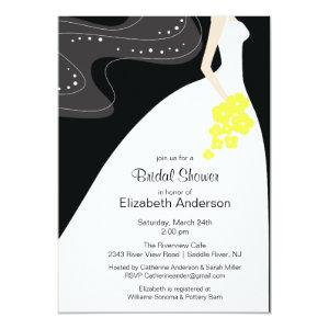 Graceful Bride Bridal Shower Invitation Yellow starting at 2.51