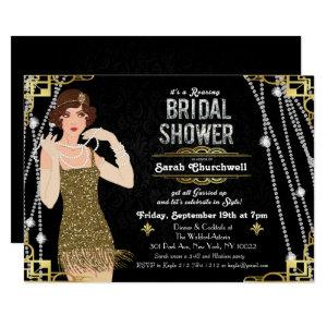 Great Gatsby Flapper Bridal Shower Invitation starting at 2.85