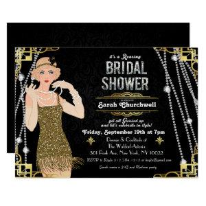 Great Gatsby Flapper Girl Bridal Shower Invitation starting at 2.85