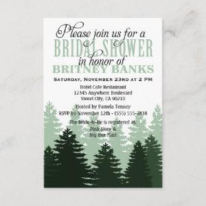Green Enchanted Forest Bridal Shower Invitations starting at 1.95
