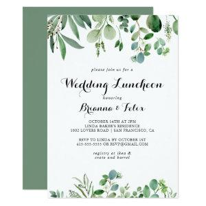 Green Eucalyptus Wedding Luncheon Bridal Shower Invitation starting at 2.51