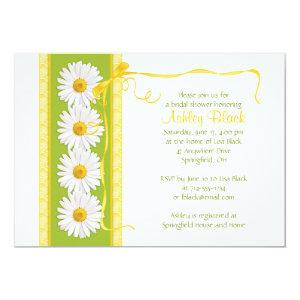 Green Yellow Shasta Daisy Bridal Shower Invitation starting at 2.66