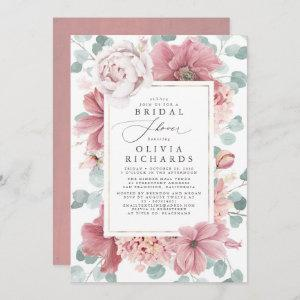 Greenery and Dusty Rose Floral Bridal Shower Invitation starting at 2.51